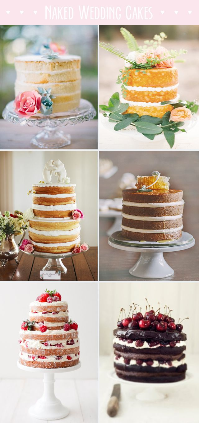 Really loving the idea of a naked wedding cake. Plus it would b much easier to b Donny proof :)