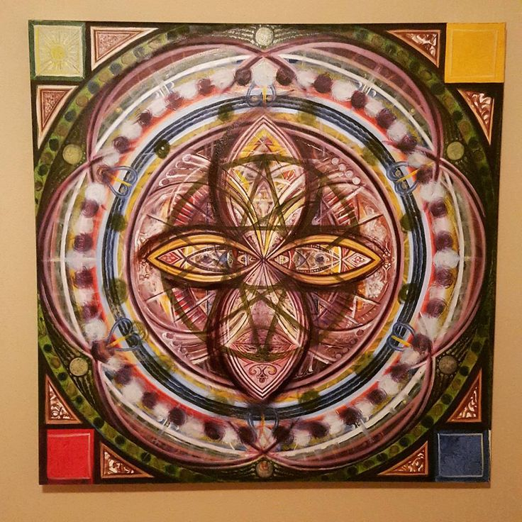 """2011 ... Birth of Sophia  48"""" x 48"""" oils ... (20% complete)  They all flow, or rather evolve from one into the other."""