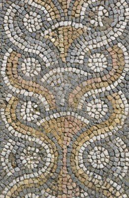 Roman mosaic floor tiling from the ancient site of Aphrodisias