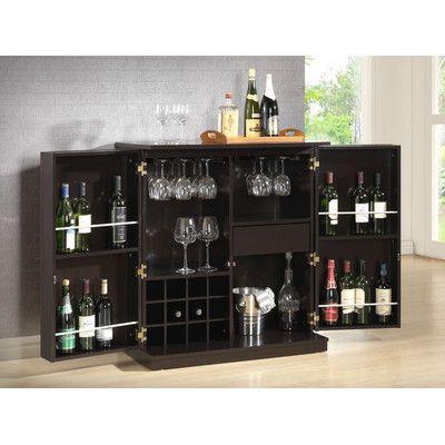 Baxton Studio Stamford Bar Cabinet Bar Cantinas De