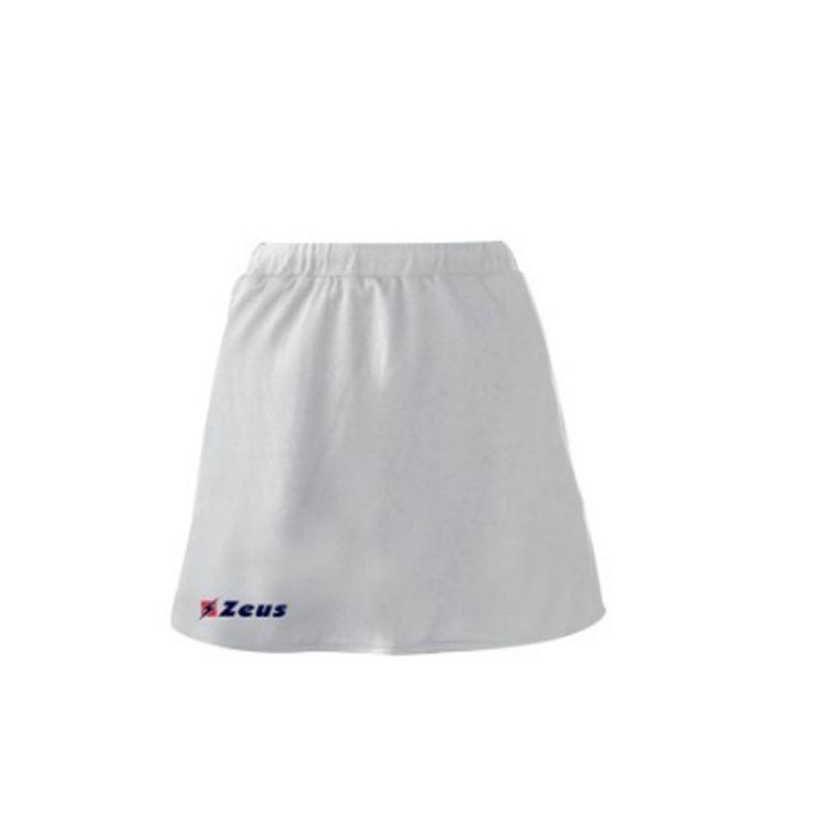 Gonna Skirt Lady Zeus 100% poliestere con pantaloncini interni. Disponibile in 3 colori nero, blu e bianco. #Pegashop vendita abbigliamento sportivo.