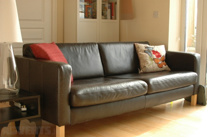 Ikea Leather Couch Karlstad 3 Seater Sofa Where We