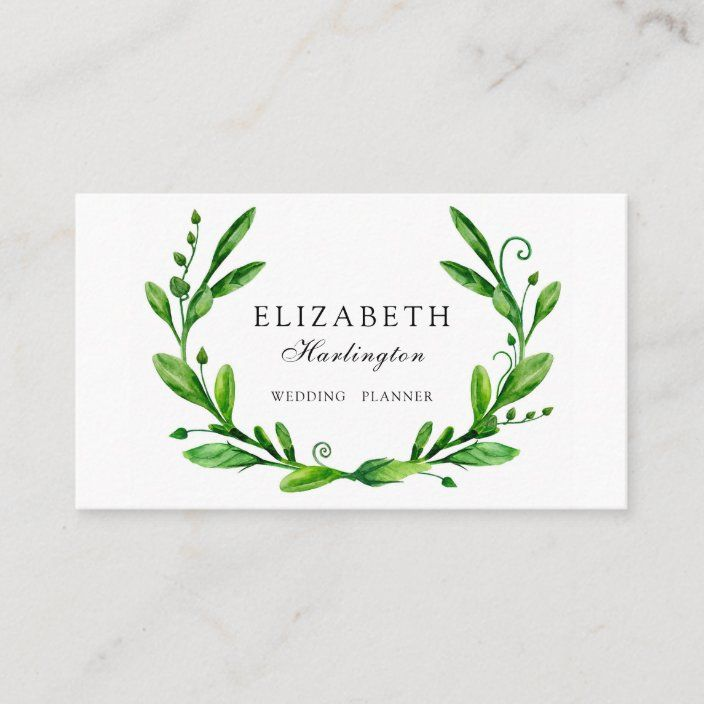 Green Floral Botanical Greenery Card Garden Business Card Zazzle Com In 2021 Floral Design Business Floral Business Cards Lawn Care Business Cards