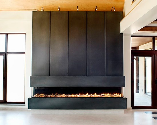 Linear Concrete Fireplace Surround Fireplaces U0026 Stoves By Anthony Concrete  Design: This Mesmerizing Linear Gas Insert Is Wrapped In A Gorgeous  Contemporary ...