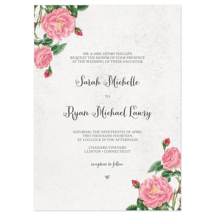 Vintage Botanical Wedding Invitation Suite   by Crafty Pie Press