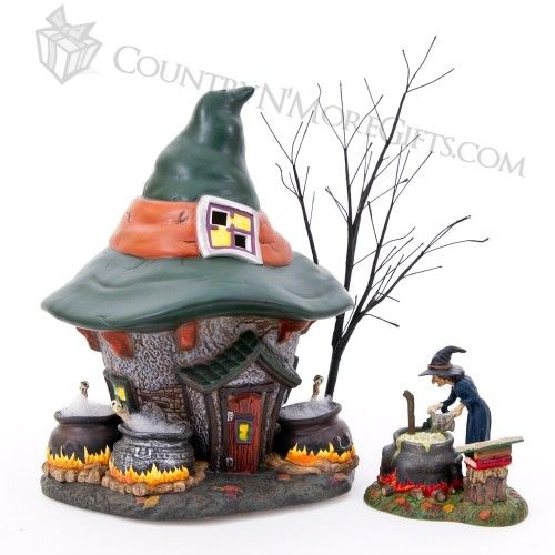 department 56 halloween series three witches cauldron haunt and accessory set