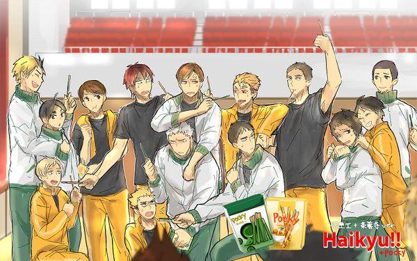 【HQ】ライバル高校でエビバデ!ポッキー!! (青葉城西、扇南、伊達工業、条善寺) #ポッキーの日