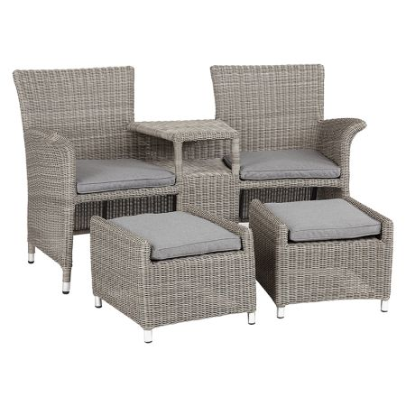 royalcraft wentworth rattan companion seat with footstools wwwrattanfurnitureukcouk rattan sofagarden furniture