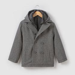Hooded Wool Mix Coat, 3-12 Years R essentiel - Boys Clothing