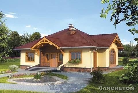 Projekt rozłożystego domu