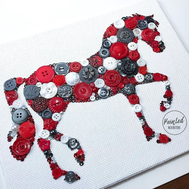 """356 Likes, 17 Comments - Joanna's Button Art (@paintedwithbuttons) on Instagram: """"One of December orders - love the color combo! #supporthandmade #swarovskirhinestones #buttonart…"""""""