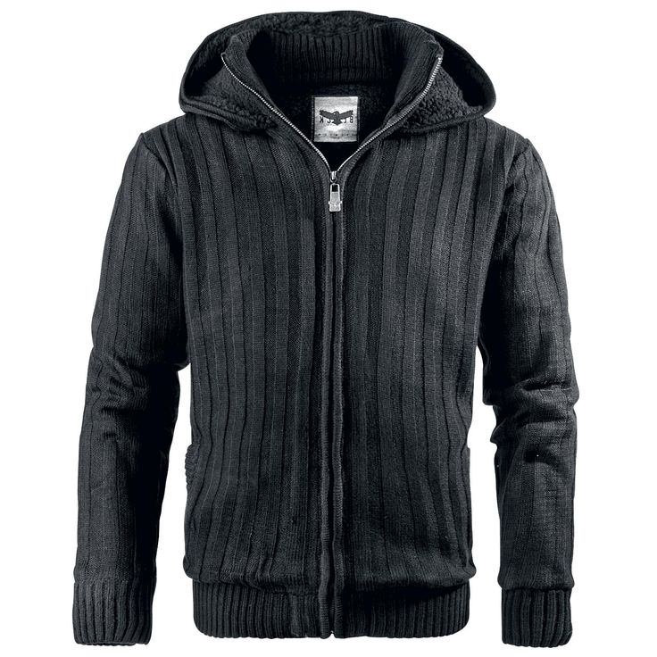 Winter Zip Hoodie - Mellansäsongsjacka från Black Premium by EMP