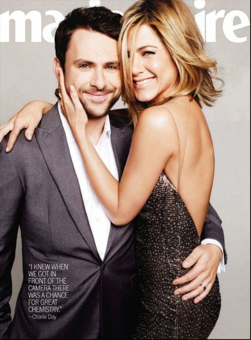 2 of my very favorites... Charlie Day & Jennifer Aniston <3