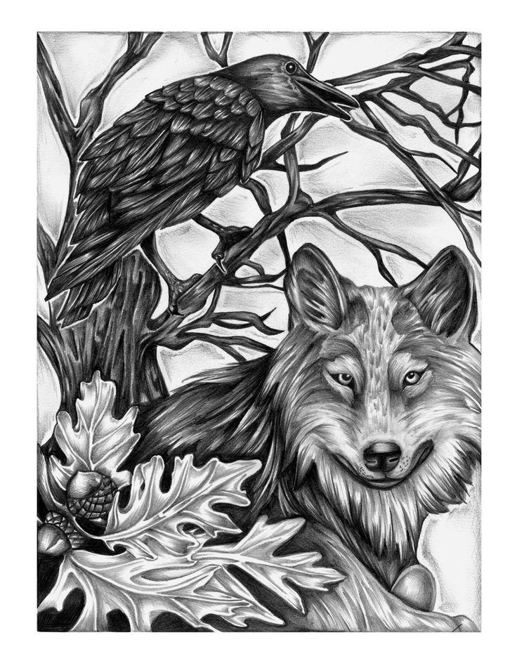 21 besten tattoo rabe bilder auf pinterest wolf tattoos. Black Bedroom Furniture Sets. Home Design Ideas
