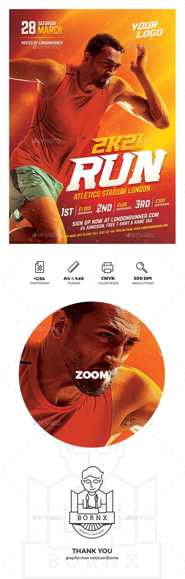 #Running #Sport #Flyer - Sports Events