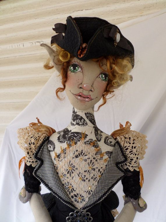 Cloth Doll Pattern  Clothing  Butterfly Peplum by paulasdollhouse
