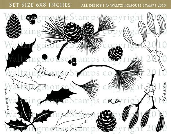 Festive Foliage   Waltzingmouse Stamps