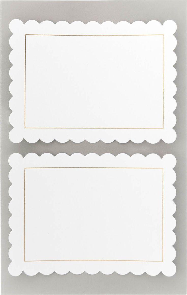 Witte adresetiketten Rosette Hot Foil Rico Design Paper Poetry meerleuks
