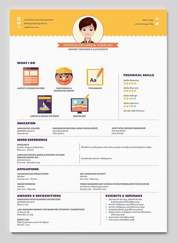 54 best Design Curriculum vitae images on Pinterest Resume - creative resume headers