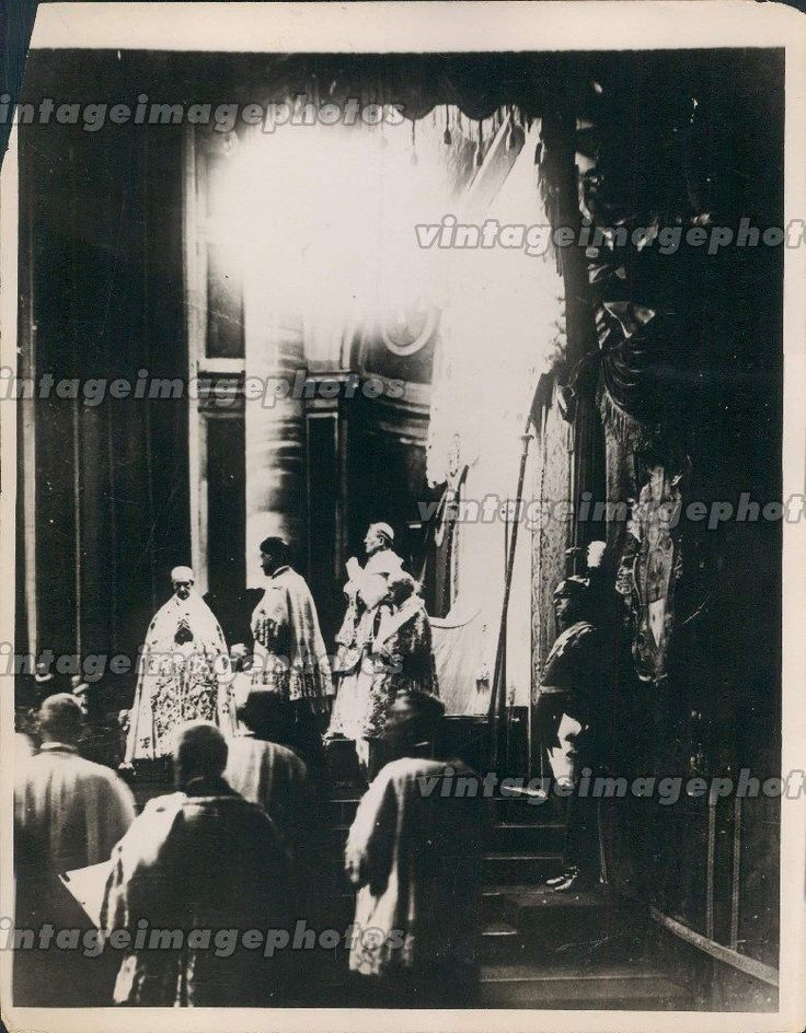 1929 Ascension Day Observed Rome Pope Pius XI Italy High Mass Press Photo