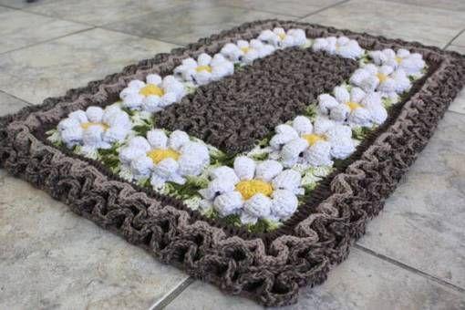 Tapete labirinto em crochê – Passo a passo com gráfico