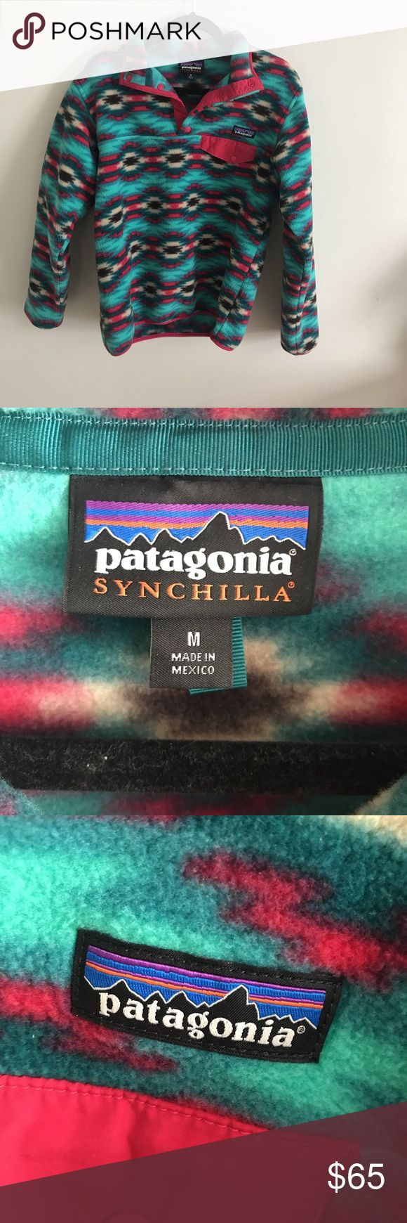 Patagonia Synchilla Gorgeous Patagonia Synchilla Jacket! I love this but it is sadly not my style. Looking to give it a new home! Patagonia Jackets & Coats