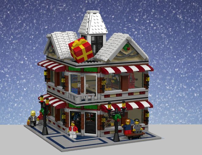 Modular Winter Toy shop by Stellar73 on LEGO Ideas.