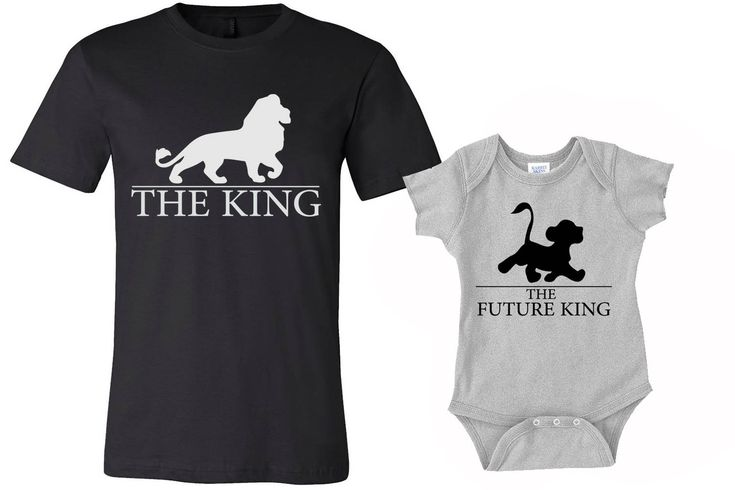 Set of 2 King Shirts, Dad and Son shirts, daddy shirt and baby onesies Shirts, lion king shirts, funny tshirts, family shirts, baby onesies by MOTIFIT on Etsy