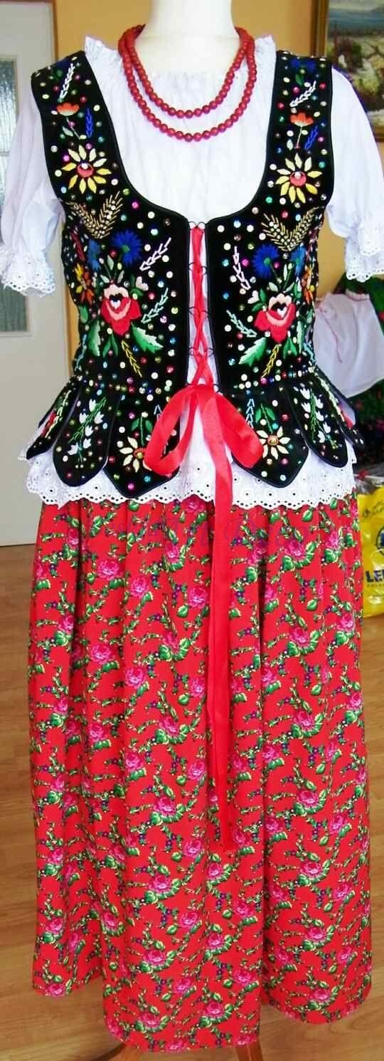 Gorset Kubrak krakowski ręczny haft - strój ludowy #5 Polish Folk Embroidery - Polish Folk Art / Ideas for Crazy Quilting