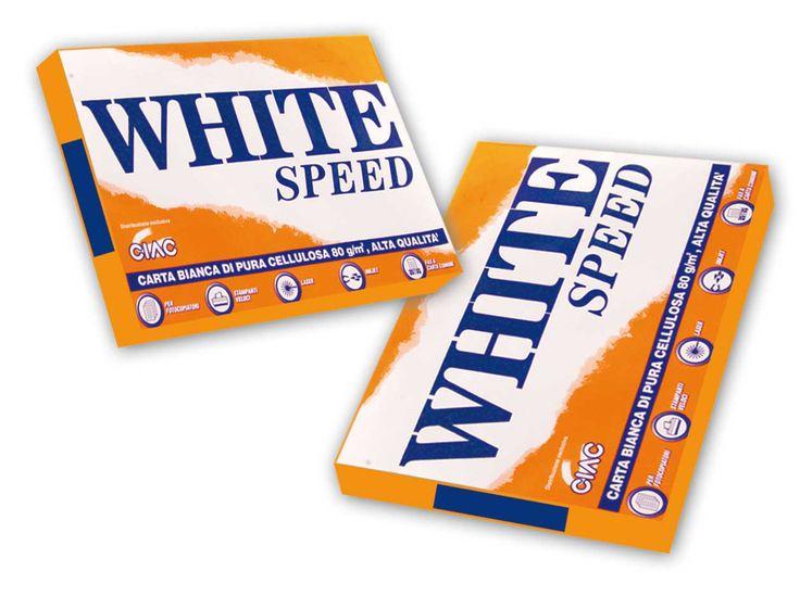 CARTA PER FOTOCOPIE WHITE SPEED Carta per fotocopie, risma da 500 fogli bianchi da gr 80. La carta White Speed è realizzata con carta di pura cellulosa. Ideali per fotocopiatori, stampanti veloci, stampanti laser, ink-jet e fax a carta comune Formato A4: 21 x 29,7 cm - 80 g/m2
