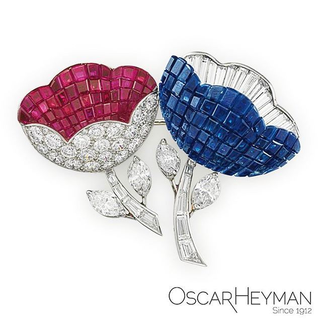 "Rubies are red, sapphires are blue, the gift of jewelry says ""I love you!"" Show your love with the gift of Oscar Heyman."