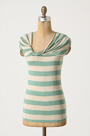 aqua stripes with a twisted neck? yes please.