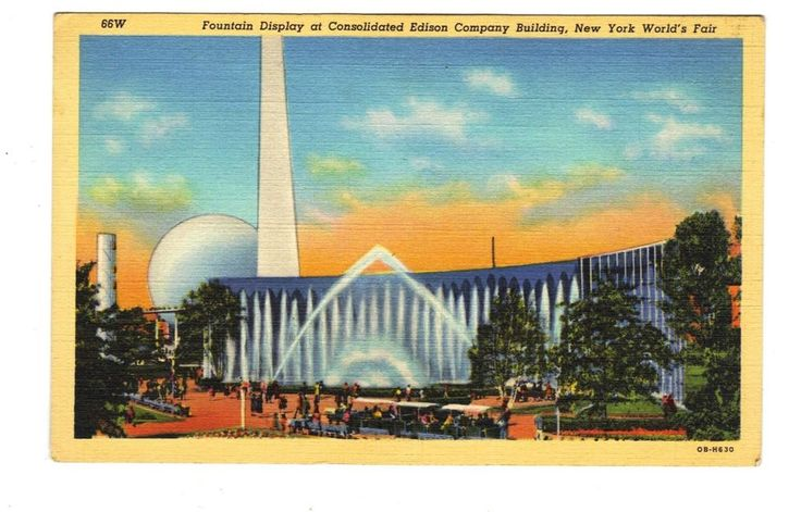 Consolidated Edison Building-New York Worlds Fair-1939 Original Vintage Postcard