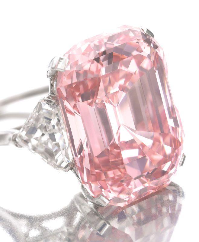 Графф розовый бриллиант, 24.78c.  Великолепный естественный цвет.