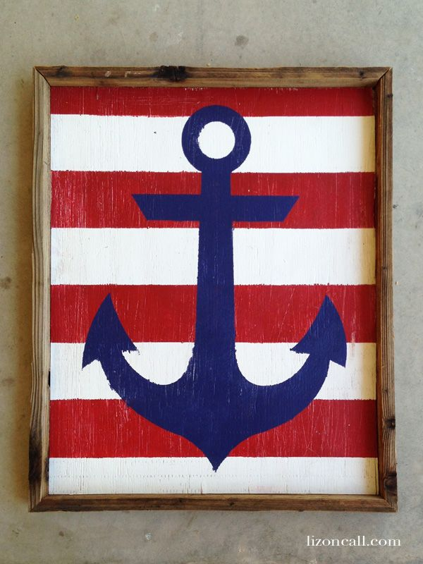 Painted Nautical Anchor Sign Front Doors Bedrooms And