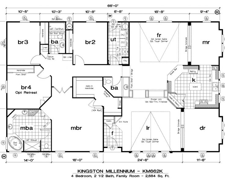 golden west kingston millennium floor plans 5starhomes manufactured homes - Floor Plans For Homes