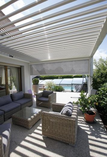 25 best ideas about pergola biossun on pergola lames orientables toiture veranda