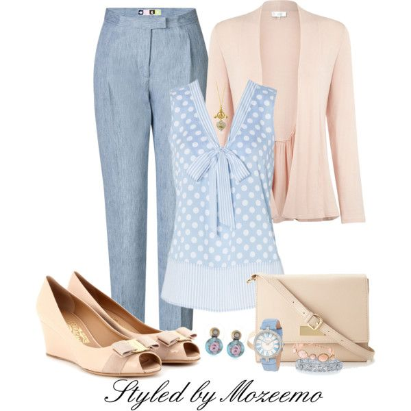 """""""Pastel Pants Outfit"""" by mozeemo on Polyvore"""