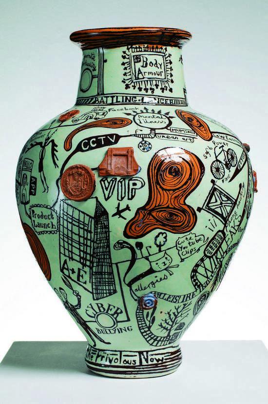 Grayson Perry, The Frivolous Now, Ceramic, 2011.