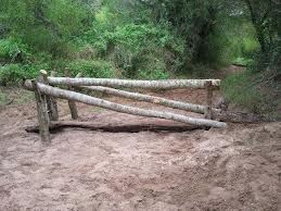 LOVE this! ditch under poles- super easy natural oxer!!