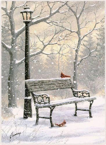 Lovely wintery scene, I love wintery