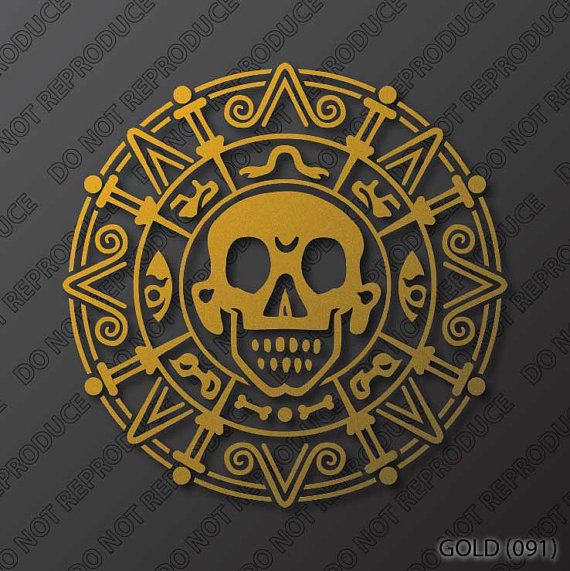 Pirates of the Caribbean  Cursed Aztec Gold Coin  by S4SarahsSigns, $3.96