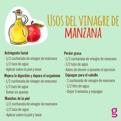 Conoce los usos del vinagre de manzana y aprovecha todas sus propiedades.