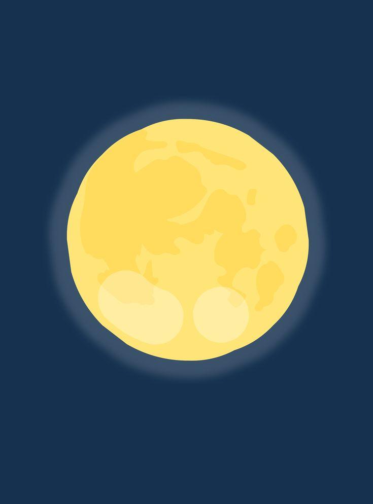 Луна картинка рисунок