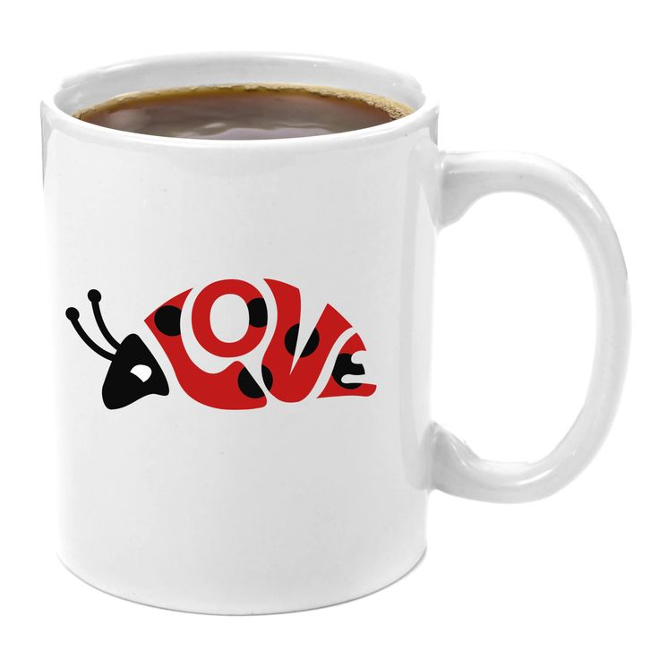 The Love Bug   Premium 11oz Coffee Mug - Perfect Gift for Her, Birthday Gifts for Him, Cute Funny Best Friend Guy, Anniversary Gifts for Girlfriend Wife His and Hers Couple Engagement Wedding Presents