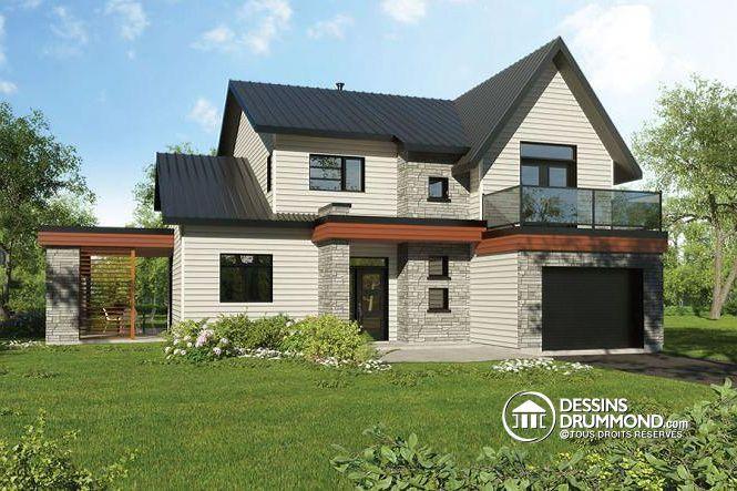 W3723-DJG - Maison saine permettant des panneaux solaires sur le toit, 2…