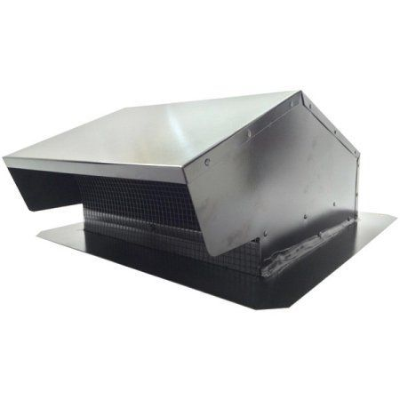 Builders Best 012634 Black Metal Roof Vent Cap, 6 inch-8 inch Universal Flush