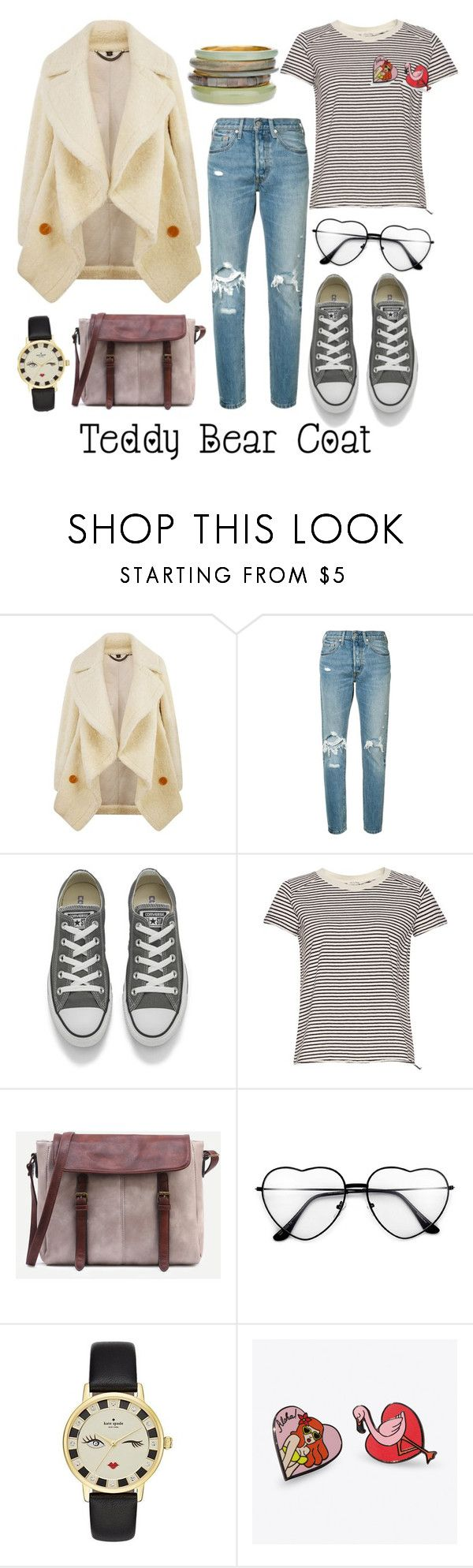 """Untitled #65"" by lucia-khewhedinoh-marchi ❤ liked on Polyvore featuring Burberry, Levi's, Converse, Kate Spade, Punky Pins and Chico's"