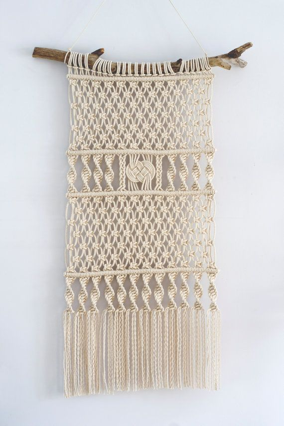 Macrame wall hanging, modern macrame, wall art, wall decor, fiber art, bohemian…