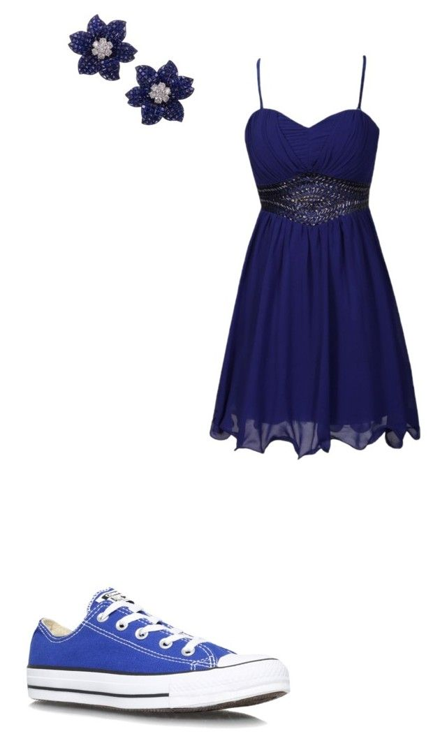 """#419"" by aureeliet on Polyvore featuring Little Mistress and Converse"